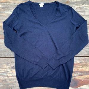 Navy J Crew sweater